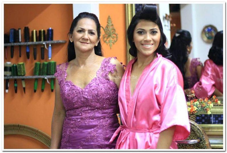 Noivinha Rafaela e sua mãe