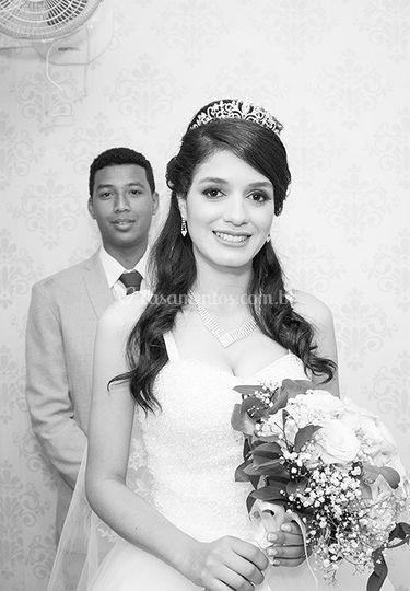 Casal feliz e satisfeito