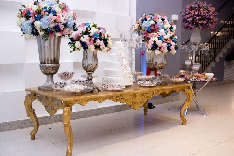 Salão Platinum - mesa bolo