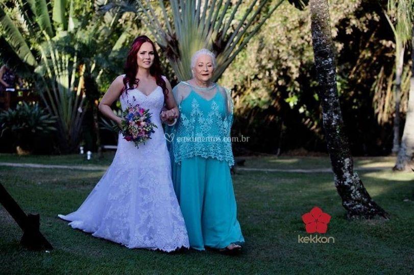 Noiva e a mãe