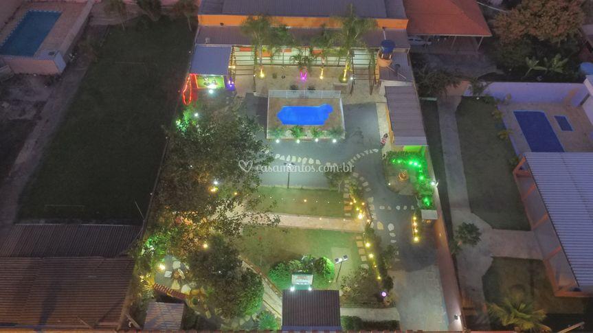 Vista aérea da chácara