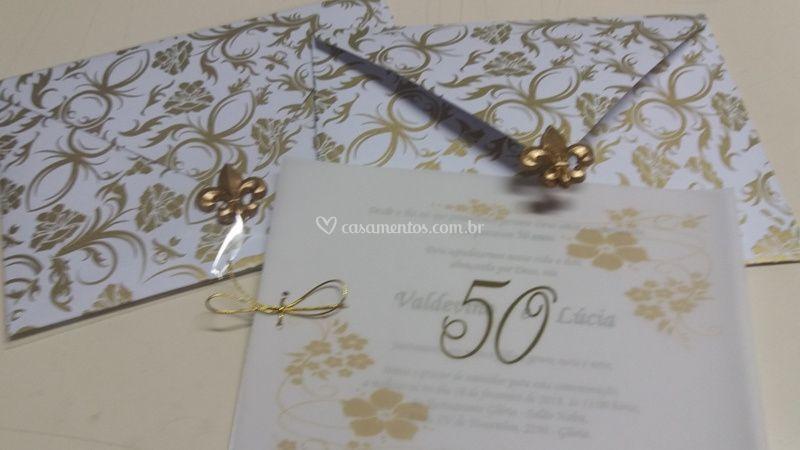 Convite Bodas De Ouro De By Diana Foto 9