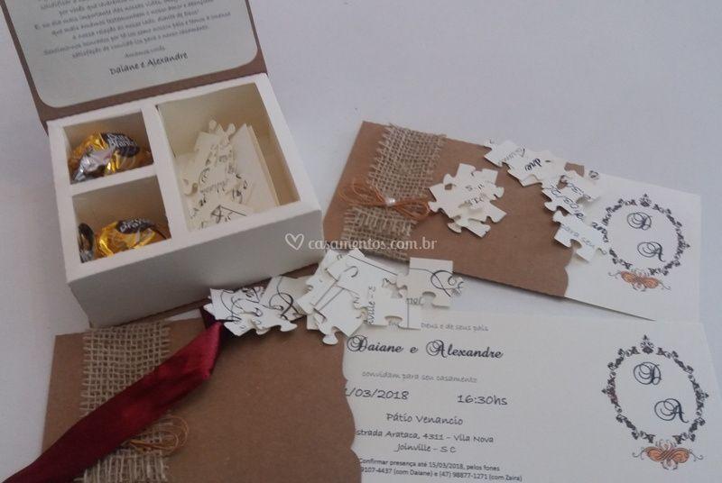 Convite E Quebra Cabeça De By Diana Foto 15