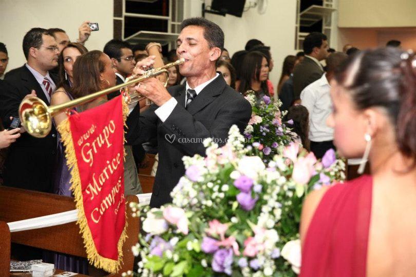 Trompete entrada da noiva