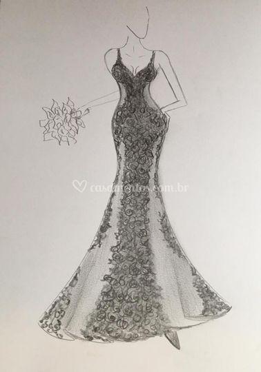 Vestidos de noivas, confecção.
