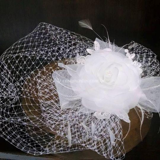 Voilette noiva branco