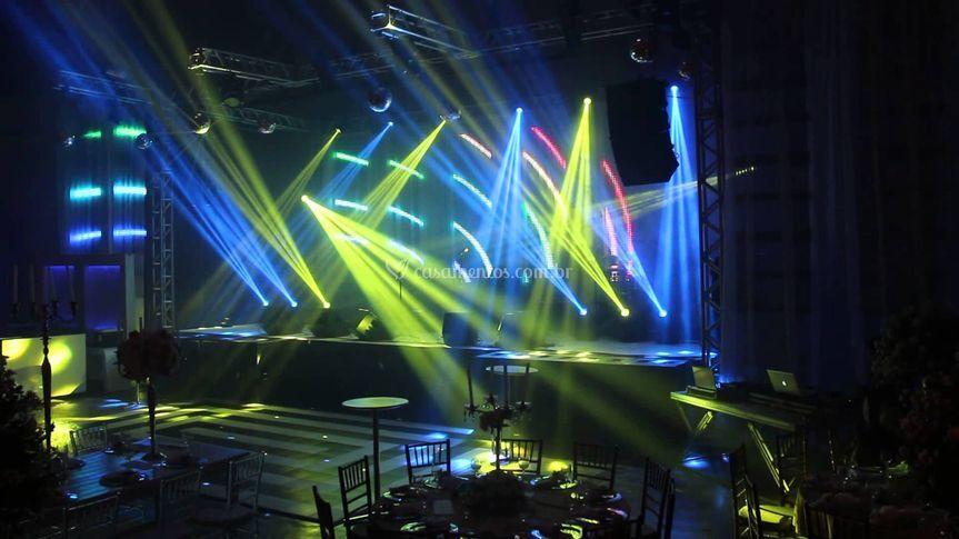 Estrutura palco - iluminação