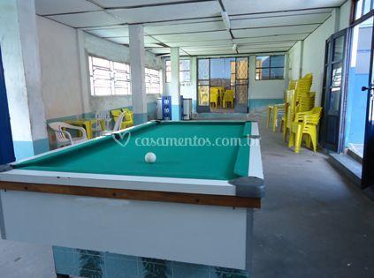 Sala de jogos do parque aquático