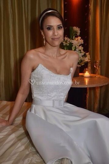Vestido curto noiva