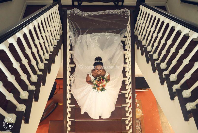 Clássica foto na escada