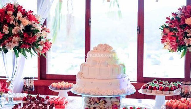 Chapéu de coco do bolo de casamento