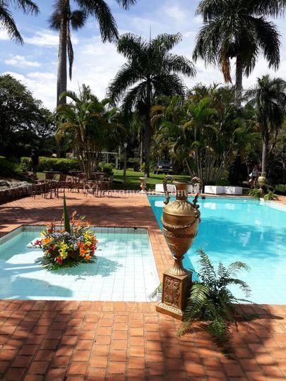 Sugestão de decoração piscina