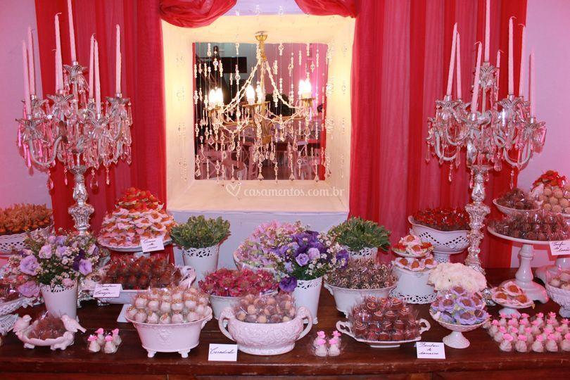Mesa de doces casamento
