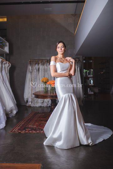 Vestido de Noiva Cetim Bucol