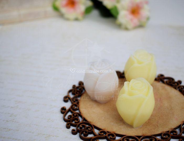 Sabonete botão de rosas