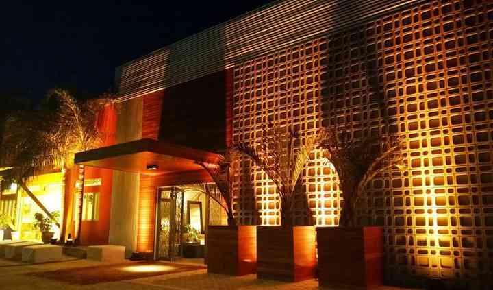 Salão iluminado