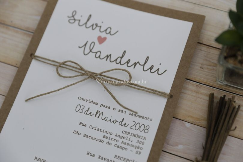 Convite Silvia e Vanderlei
