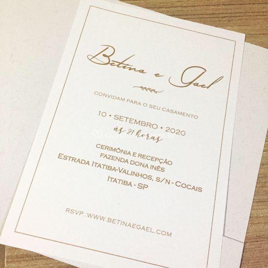 Convite Betina e Gael