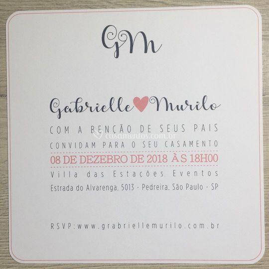 Convite Gabrielle