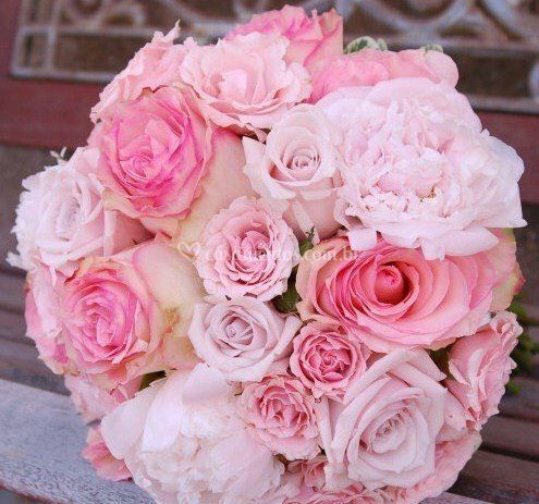 Buquê tons de rosa