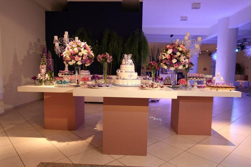 Organização mesa do bolo!