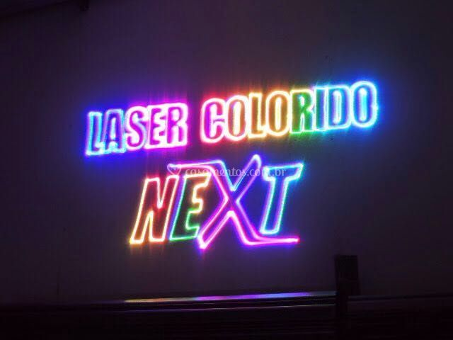Raio laser colorido