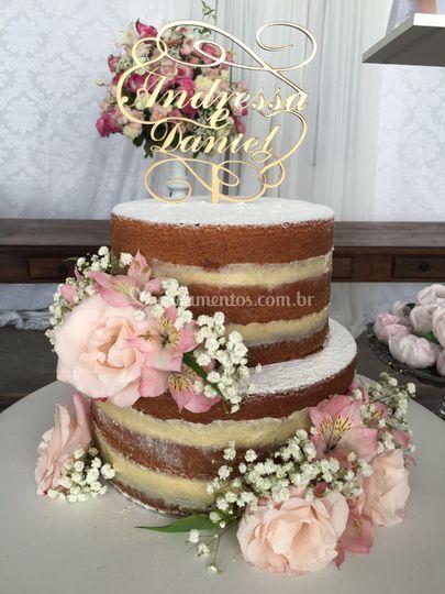 Topo de bolo com nomes