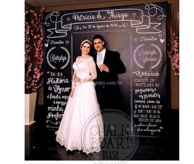 Painel Chalkboard para fotos