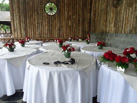 Mesas dos convidados