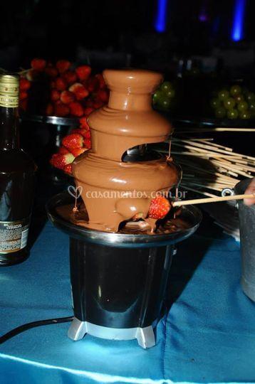 Cascata chocolate,com buffet