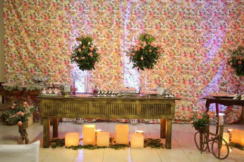 Op art decoração de casamento