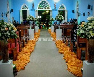 Corredor de passagem da noiva