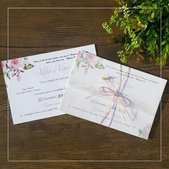 Convite de Papel Vegetal 4