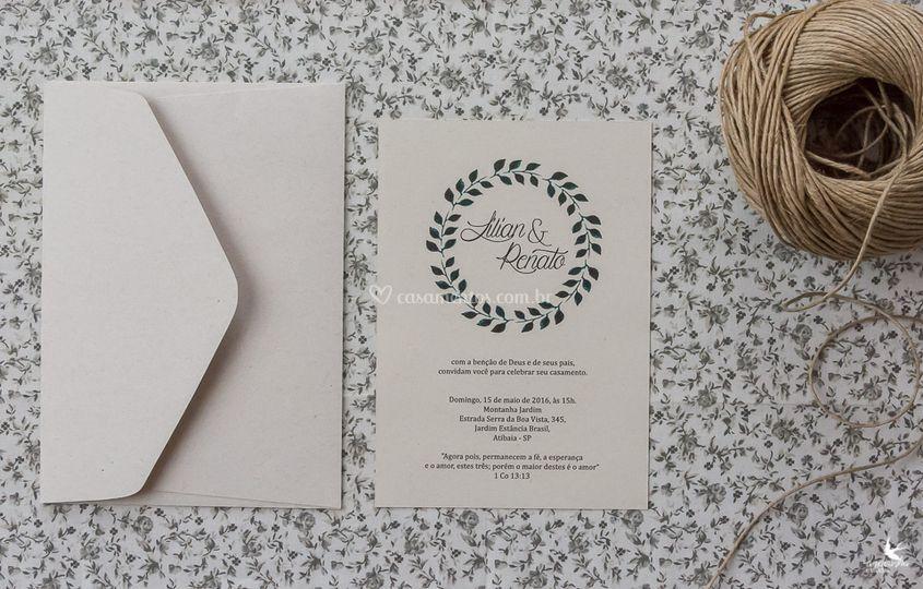 Convite simples reciclato