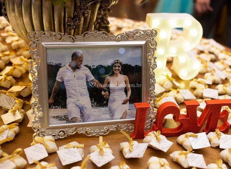Detalhes casamento Renata e Kl