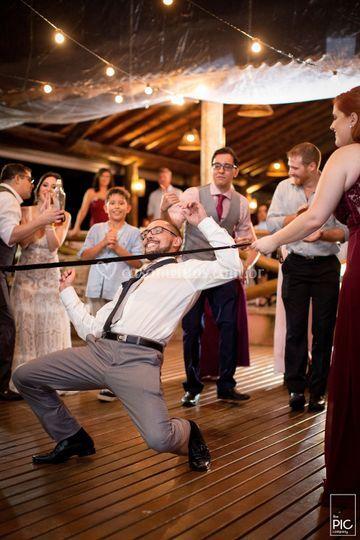 O noivo estava animado ☺️