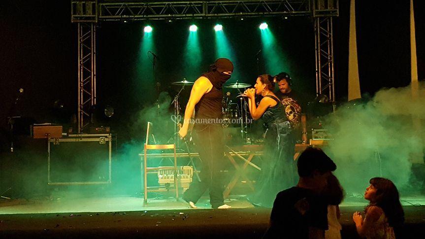 Interações de palco