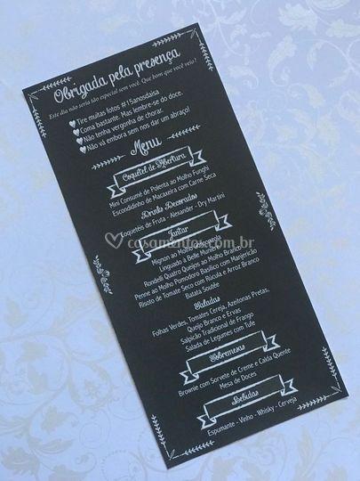Cardápio (menu)