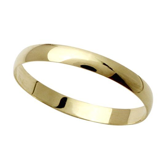 Aliança tradicional em ouro