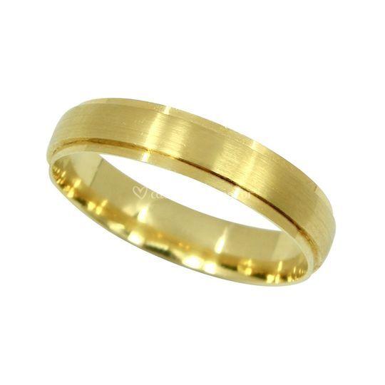 Aliança Alegria 4mm em ouro