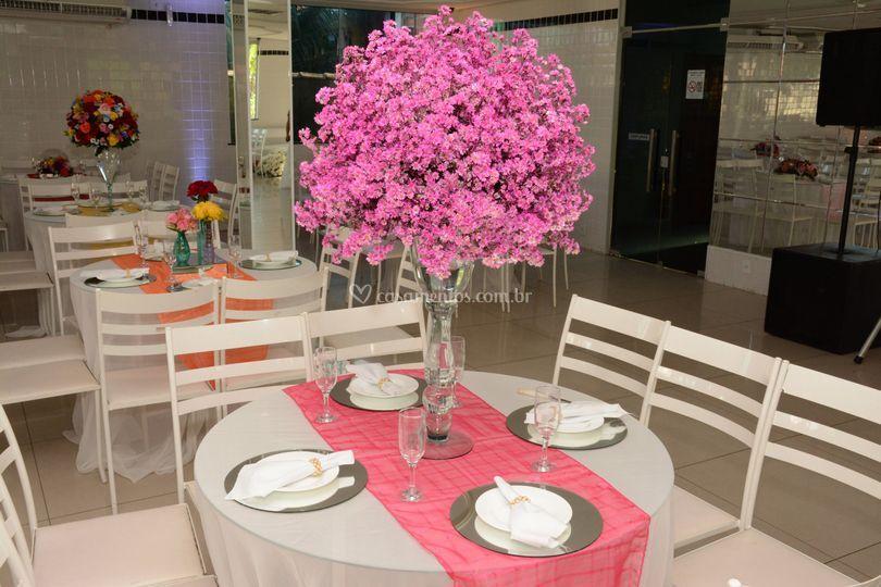Decoração de mesa de convidado