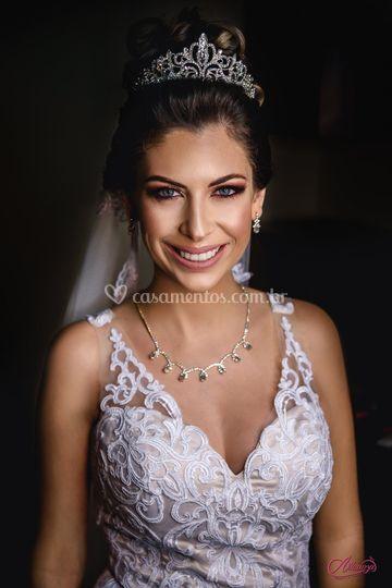 Belo retrato de uma noiva
