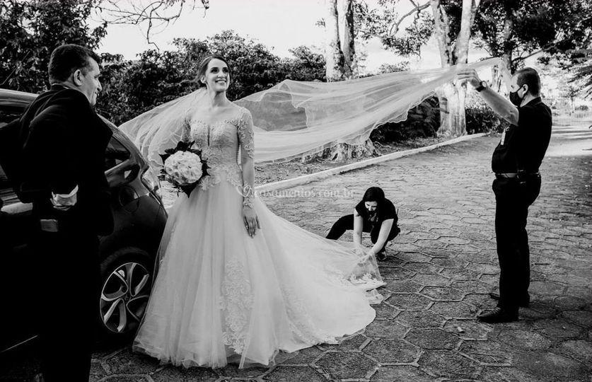 Preparando a noivinha Débora