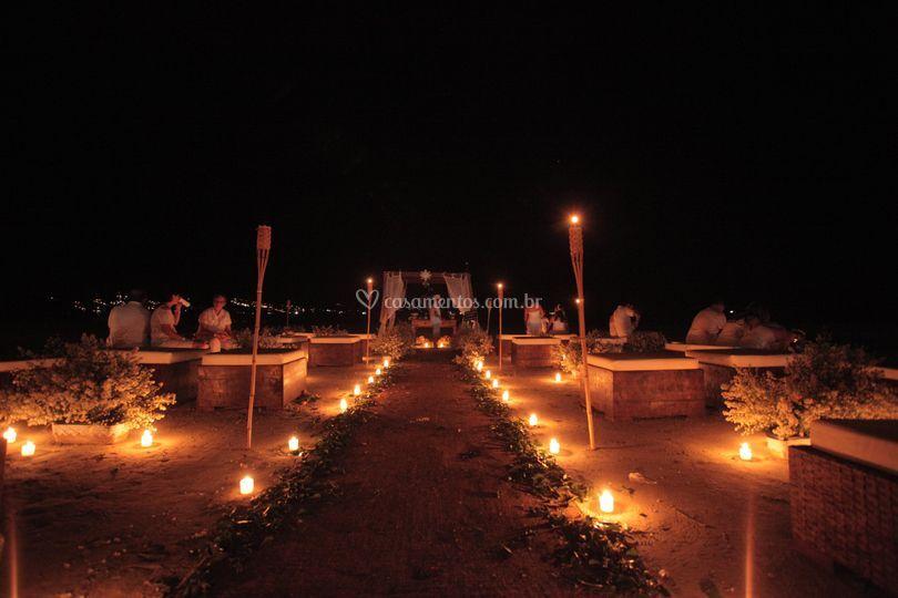 Cerimonia na areia