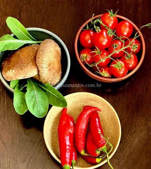 Ingredientes para produção