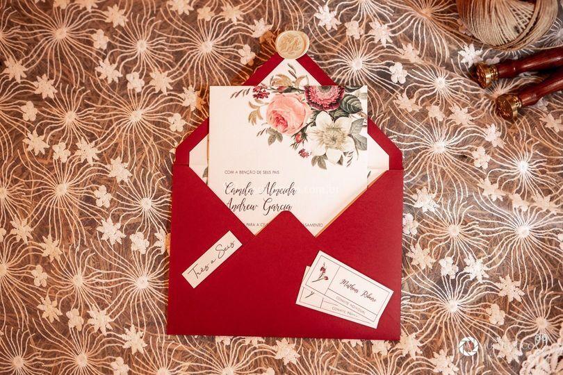Convite vermelho