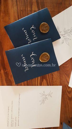 Cadernos para votos caligrafia
