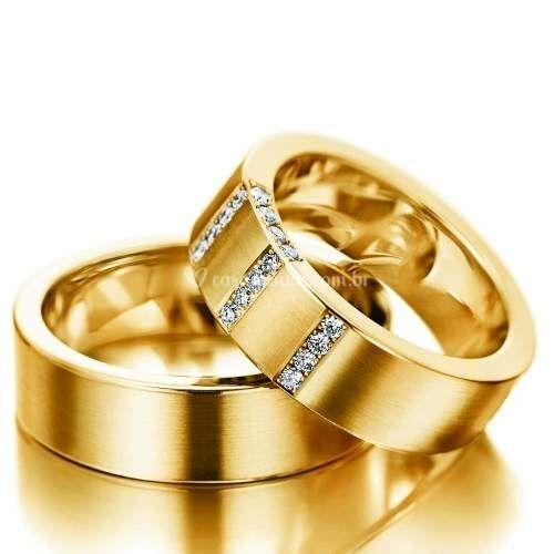 Alianças ouro + Brilhantes