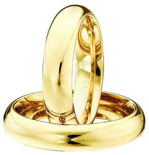 Alianças ouro tradicional