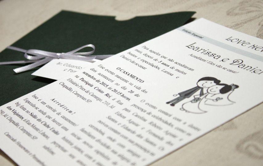 Convite de Casamento Divertido
